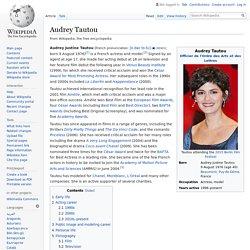 Audrey Tautou - Wikipedia
