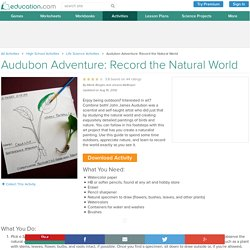 Audubon Adventure: Record the Natural World