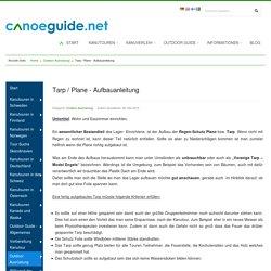 Tarp / Plane - Aufbauanleitung - CanoeGuide.net - Kanutouren, Outdoor Ausrüstung, Angeln, Tipps und Tricks