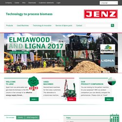 home JENZ GmbH, Technology to process biomass, Mobile Chippers, Stationary Chippers, Chipper trucks, Biomass processors, special machines