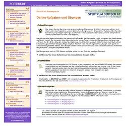 Online-Aufgaben Deutsch als Fremdsprache