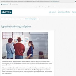 Aufgaben in Marketing-Jobs