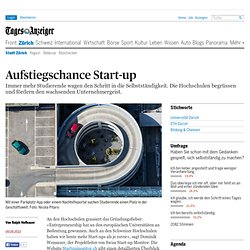 Advancement opportunity start-up - News Zurich: Zurich city