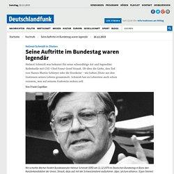 Helmut Schmidt in Zitaten - Seine Auftritte im Bundestag waren legendär
