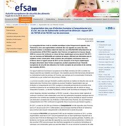 EFSA 09/04/13 Augmentation des cas d'infection humaine à Campylobacter et à E.coli ; les cas de Salmonella continuent de diminue