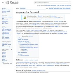Augmentation de capital