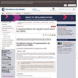 L'augmentation de capital social dans les SARL