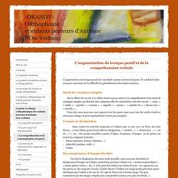 Augmentation du lexique passif et de la compréhension verbale - oranovs jimdo page!