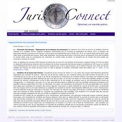 Augmentation du montant des travaux - Juris-connect