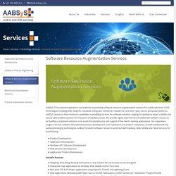Software Resource Augmentation Services - Resource Augmentation & IT Outsourcing Services