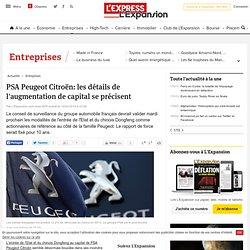 PSA Peugeot Citroën: les détails de l'augmentation de capital se précisent
