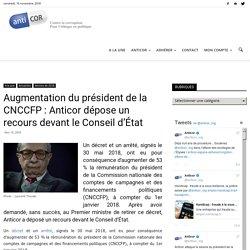 Augmentation du président de la CNCCFP : Anticor dépose un recours devant le Conseil d'État