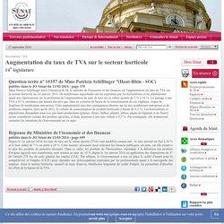Augmentation du taux de TVA sur le secteur horticole