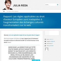 Rapport: Les règles applicables au droit d'auteur Européen sont inadaptées à l'augmentation des échanges culturels transfrontaliers sur le web