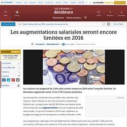 Les augmentations salariales seront encore limitées en 2016