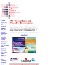 Augmentative and Alternative Communication Centers