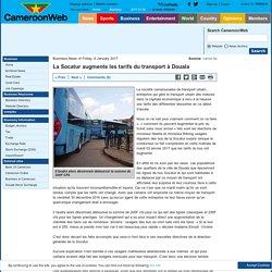 La Socatur augmente les tarifs du transport à Douala