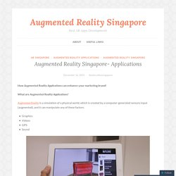 Augmented Reality Applications Singapore