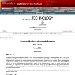 JOTS v40n2 - Augmented Reality Applications in Education