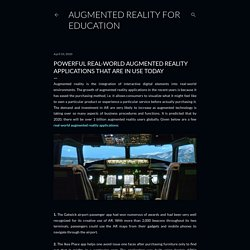 Powerful Real-World Augmented Reality Applications That Are In Use Today