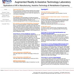 Augmented Reality and Assistive Technology Lab, Singapore