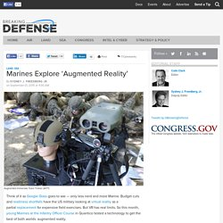 Marines Explore 'Augmented Reality'