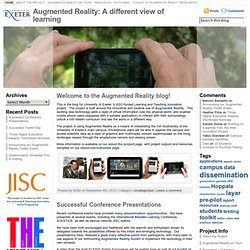 Augmented Reality: A different view of learning