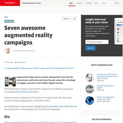 Seven awesome augmented reality campaigns