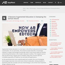 5 Reasons Augmented Education is Sweeping the EdTech World - AppReal