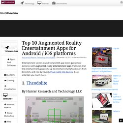 Top 10 Augmented Reality Entertainment Apps for Android / iOS platforms