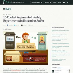 20 Coolest Augmented Reality Experiments in Education So Far