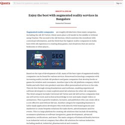 Enjoy the best with augmented reality services ... - immortaldream - Quora