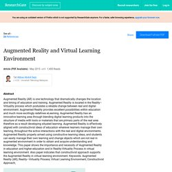 Augmented Reality and Virtual Learning Environment