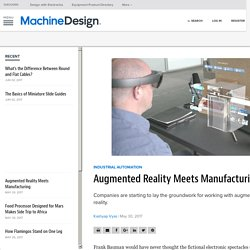 Augmented Reality Meets Manufacturing