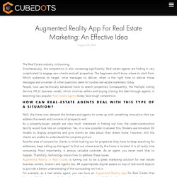 Augmented Reality App For Real Estate Marketing: An Effective Idea - Cubedots