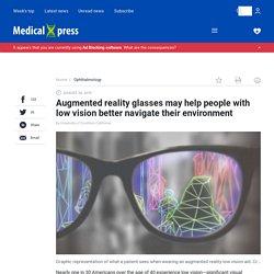 Les lunettes de réalité augmentée peuvent aider les personnes malvoyantes à mieux naviguer dans leur environnement