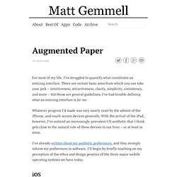 Augmented Paper