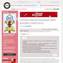 News, Augmented » Le Parti Pirate voudrait bien hacker l'Open Data