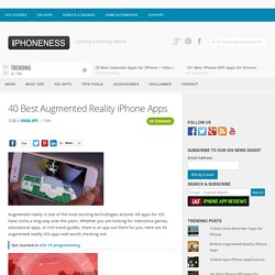 37 Best Augmented Reality iPhone Applications