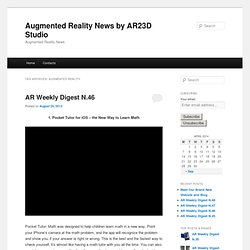 Augmented Reality News by AR23D Studio