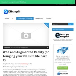 iPad and Augmented Reality (or bringing your walls to life part 2)