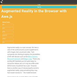 Augmented Reality in the Browser with Awe.js