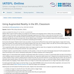 Using Augmented Reality in the EFL Classroom