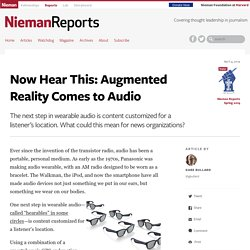 Now Hear This: Augmented Reality Comes to Audio