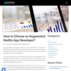 How to Choose an Augmented Reality App Developer?