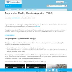 Augmented Reality Mobile App with HTML5