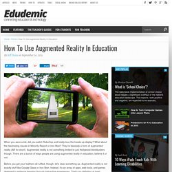 How To Use Augmented Reality In Education