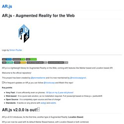 AR.js - Augmented Reality for the Web