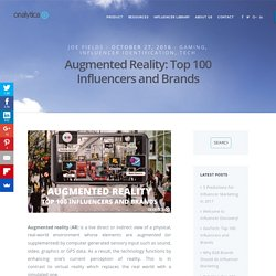 Augmented Reality: Top 100 Influencers and Brands