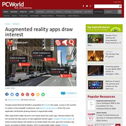 Augmented reality apps draw interest